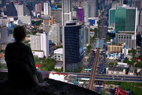 view of city from skyscraper